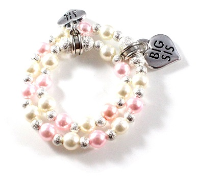 pastel things round swarovski products beads rings pearls rose pearl