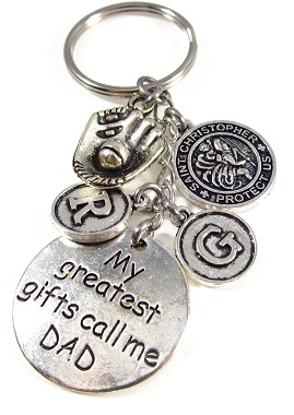 Customized Dad Keychain Dangle