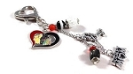 TR Black Hawks Hockey Mom / Grandma Purse Dangle