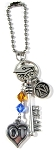 Class of 2018 / Class of 2019 / Class of 2020 Graduation Rear View Mirror Charm with Swarovski Birthstone Crystal / School Colors !