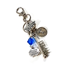 Class of 2018  / Class of 2019 / Class of 2020 Graduation Key chain or Purse Charm with Swarovski Birthstone Crystal / School Colors !