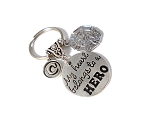 Police, Sheriff or Fire Dept. ~ 'My Heart Belongs to a HERO' Personalized Key chain
