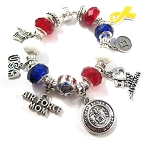 Personalized Air Force Mom / Wife Charm Bracelet