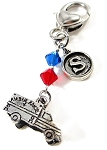 EMT / Paramedic Personalized  Purse Charm or Keychain with Swarovski Crystals