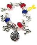 Personalized Army Mom / Wife Charm Bracelet