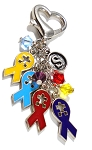Personalized Swarovski Crystal Autism Awareness Key Chain