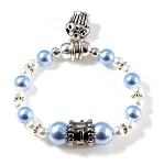 Swarovski Pearls Birthday Bracelet for Baby Boy