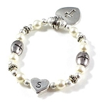 Freshwater Pearls - Baptism, Communion or Confirmation Bracelet