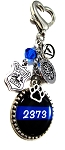 Police K9 ~ Personalized St. Michael Thin Blue Line Purse Charm or Keychain with Swarovski Crystal
