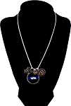 Police - Personalized St. Michael Thin Blue Line Snake Chain Necklace