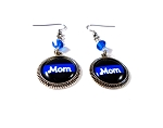 Customized Thin Blue Line Earrings with Swarovski Crystals