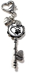 Personalized Skeleton Heart Key chain or Purse Charm ~ Cat Parents