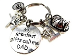 Customized #1 Dad Key Chain for Firemen