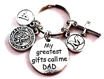 Customized St. Christopher Keychain for Dad