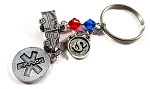 EMT - Personalized Star of Life EMT Purse Charm or Keychain with Swarovski Crystals