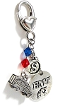 EMT - Personalized EMT Purse Charm or Keychain with Swarovski Crystals