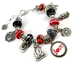 Firefighter - Personalized Snake Chain Charm Bracelet