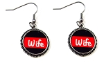 Customized Red Line Earrings