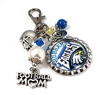 Swarovski Pearls Custom Football Aunt, Mom, Grandma Purse Dangle