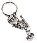 Personalized Golf Key Chain / Golf Bag Charm