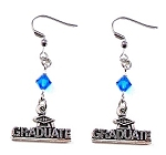 Graduate Earrings with Swarovski Birthstone Crystal