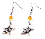 2018 Graduation Star Earrings with Swarovski Birthstone Crystal