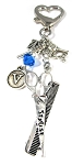Personalized Hair Stylist Key Chain or Purse Charm with Swarovski Crystal