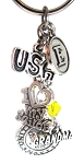 Navy Mom/Wife/Grandma Purse Charm with Swarovski Crystal