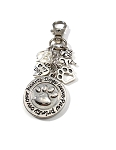 Personalized Dogs Leave Paw Prints on Our Hearts Key chain or Purse Charm