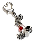 Personalized Mortar & Pestle Rx ~ Pharmacist ID Holder charm with Swarovski Birthstone