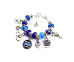 Police - Personalized St. Michael Charm Bracelet