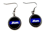 Customized Thin Blue Line Earrings