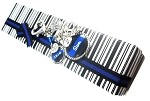 Police - Personalized Handcuff Thin Blue Line Purse Charm or Key chain with Flag & Swarovski Crystal
