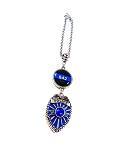 Police - Personalized Thin Blue Line Rear View Mirror Charm