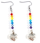 PRIDE - Swarovski Crystal 'RAINBOW' LOVE Dangle Earrings