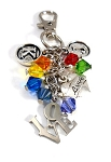 PRIDE - Swarovski Crystal 'RAINBOW' LOVE IS LOVE Key Chain