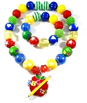 Back to School ABC ~ 123 Chunky Bubblegum Necklace & Bracelet Set