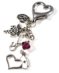 Personalized RN ~ Nurse ID Holder charm with Swarovski Birthstone Crystal
