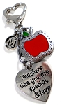 Personalized 'Teachers like you are special & few' Purse Charm or Keychain