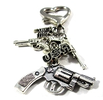 USA ~ Firearm Key Chain with American Flag