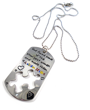 """God Found Some of The Strongest Women and Made Them Autism Moms"" Necklace"
