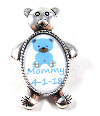 Personalized & Adorable Bear Baby Shower Pins ~ Mommy, Grandmas, Aunts, ETC.