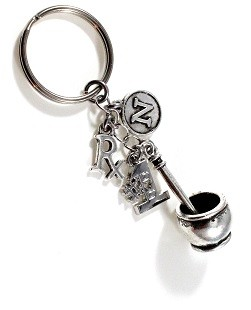 Personalized Mortar & Pestle Rx ~ Pharmacist Key Chain
